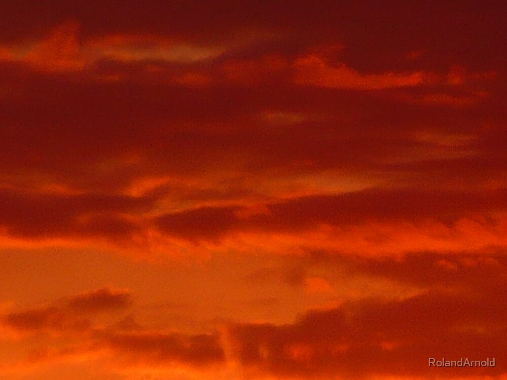 Red Sky Abstract by RolandArnold