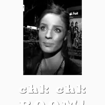 Chk chk boom With Clares Picture - white text by ILikeShirts