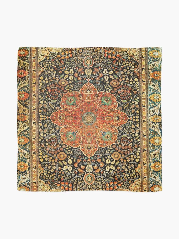 Alternate view of Antique Persian Mohtashem Kashan Rug Print Scarf