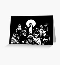Horror RETRO Vintage Drive In Movie Monsters Greeting Card
