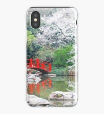 Weeping Cherry Tree at the Birmingham Botanical Gardens iPhone Case/Skin