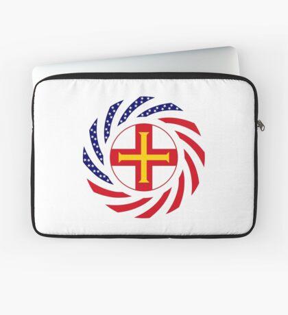 Guernsey American Multinational Patriot Flag Series Laptop Sleeve