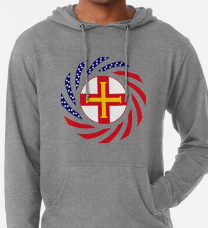 Guernsey American Multinational Patriot Flag Series Lightweight Hoodie
