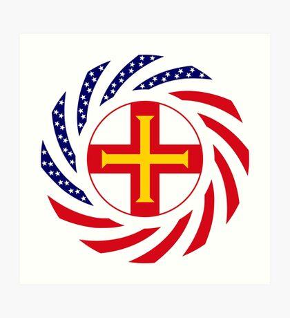 Guernsey American Multinational Patriot Flag Series Art Print