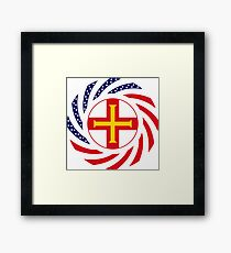 Guernsey American Multinational Patriot Flag Series Framed Print