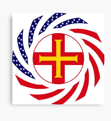 Guernsey American Multinational Patriot Flag Series Canvas Print