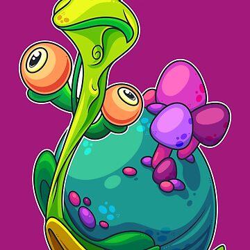 Shroom Snail by artdyslexia