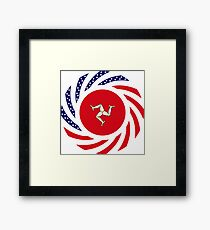 Manx American Multinational Patriot Flag Series Framed Print