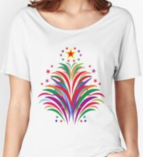 Fireworks Happy Occation  Women's Relaxed Fit T-Shirt