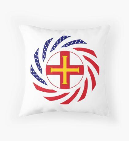 Guernsey American Multinational Patriot Flag Series Throw Pillow