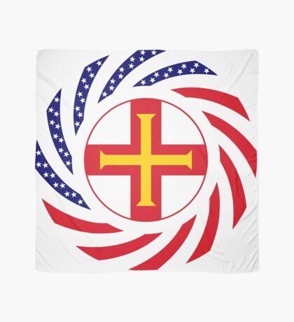 Guernsey American Multinational Patriot Flag Series Scarf