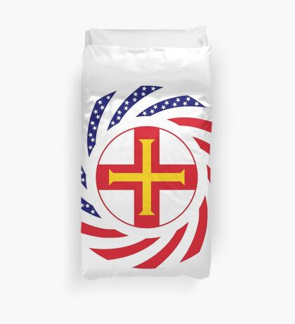 Guernsey American Multinational Patriot Flag Series Duvet Cover