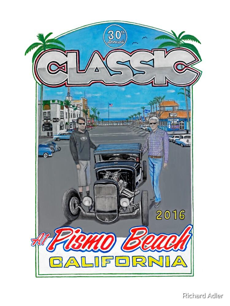 Pismo Beach Classic Car Show Mens Premium TShirt By Richardadler - Classic car show pismo beach