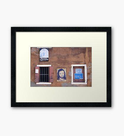 Church wall Framed Print