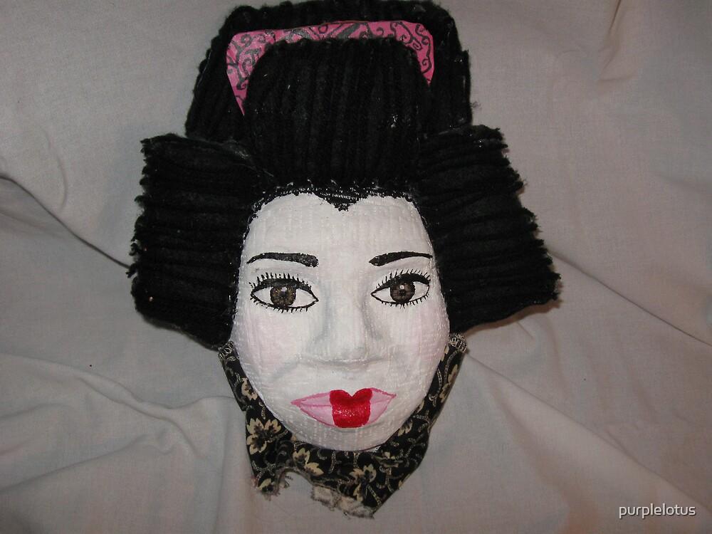 Geisha plaster mask by purplelotus