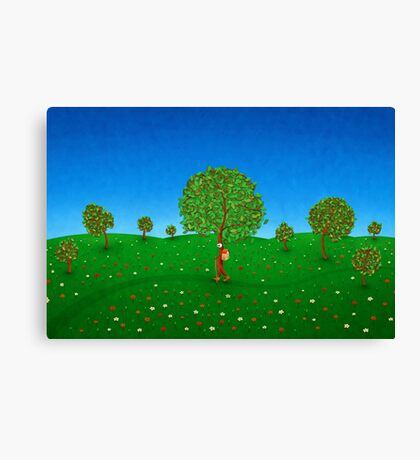 The Traveling Tree Canvas Print