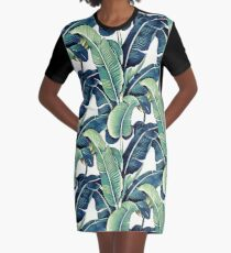 Banana Leaves Graphic T-Shirt Dress
