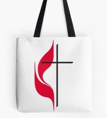 Methodist Cross & Flame Tote Bag