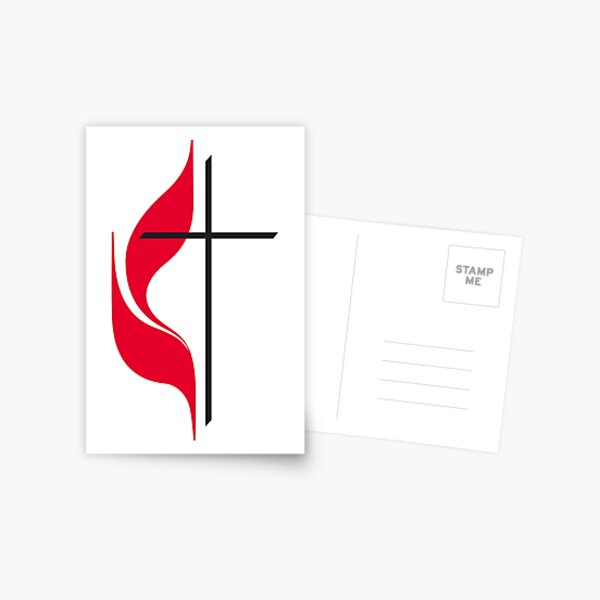 Methodist Cross & Flame Postcard
