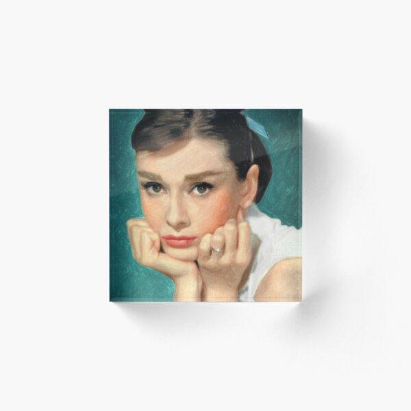 Audrey Hepburn Acrylic Block
