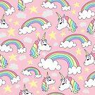 Unicorn and Rainbow Pattern by Pamela Maxwell