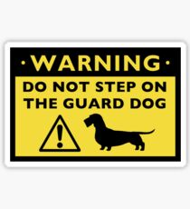 Humorous Dachshund Warning (Wire Haired Dachshund) Sticker