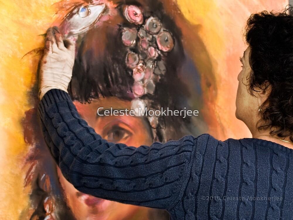 Artist at work by Celeste Mookherjee
