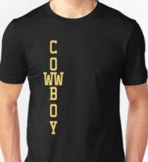 Yellow on Black - coWWboy Unisex T-Shirt