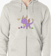 Sudadera con capucha y cremallera Spyro, el dragón y las gemas