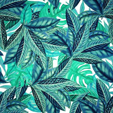 Tropical Greenery Pattern | Banana Leaf | Monstera by crazycanonmom