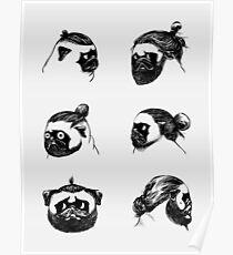 Pug Buns Poster