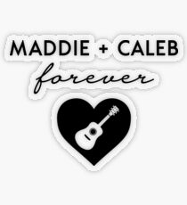 Maddie + Caleb Forever - Favorite Idol Couple Transparent Sticker