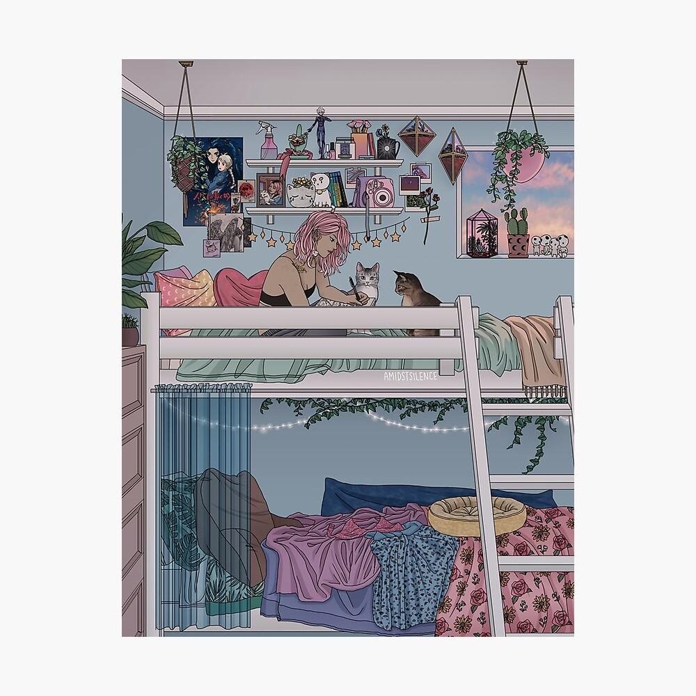Pastell Daydreams Fotodruck