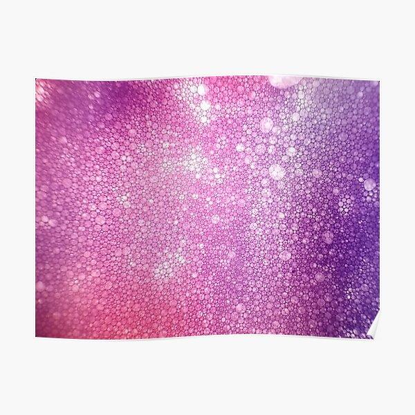 Purple Pink Foam Bubbles Microscope 40x Poster