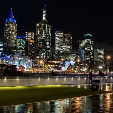 Melbourne on a wet night from hamer hall by MattBradfield