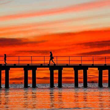 Dromana pier Sunset silouette  by MattBradfield