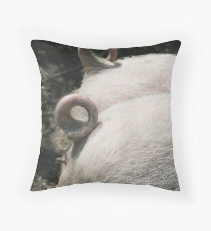 Pig Tails Throw Pillow