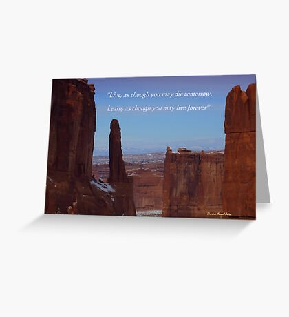 Moab Inspiration Greeting Card