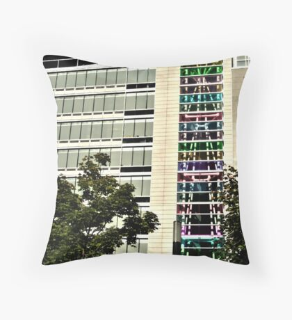 Building Colors Windows Throw Pillow