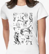 Hunde Raum Tailliertes T-Shirt für Frauen