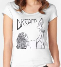 Camiseta entallada de cuello ancho Stevie Nicks- Estilo Art Nouveau- B & W
