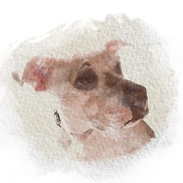 Watercolour Dog by LouFindlay