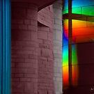 Dusk Rainbow Indian Museum by Wayne King
