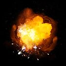 Realistic fiery bomb explosion with sparks and smoke by Lukasz Szczepanski