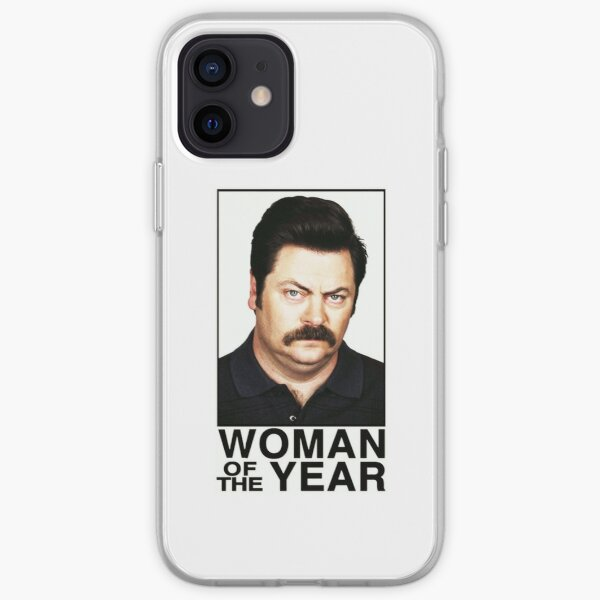 WOMAN OF THE YEAR - RON SWANSON iPhone Soft Case