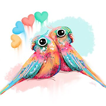 Rainbow Love Birds by karin