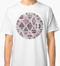 Sage Winter Diamonds In Red, Purple and Balsam Green  Classic T-Shirt