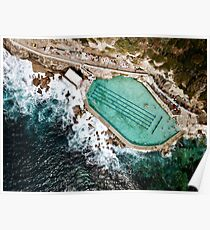 An Aerial view of Bronte rock ocean pool in Sydney Australia  Poster