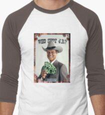 389e1733a Who shot JR? Baseball ¾ Sleeve T-Shirt