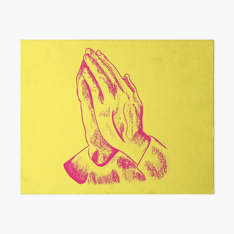 Praying Hands Art Board Print